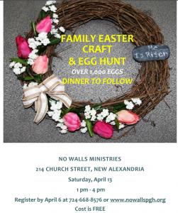 Easter Craft Event Flyer 2019