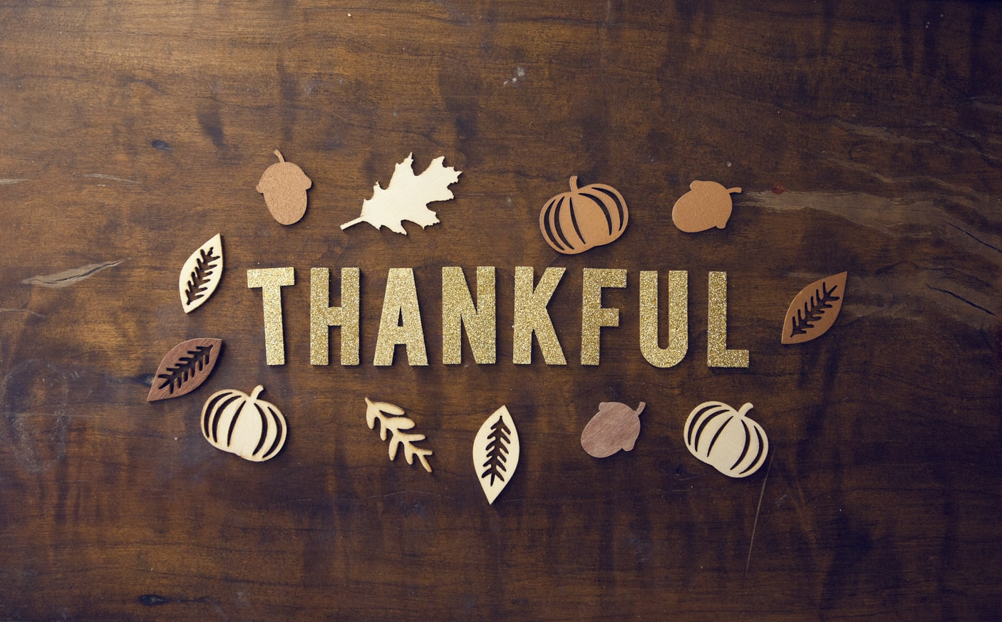 thankful word art