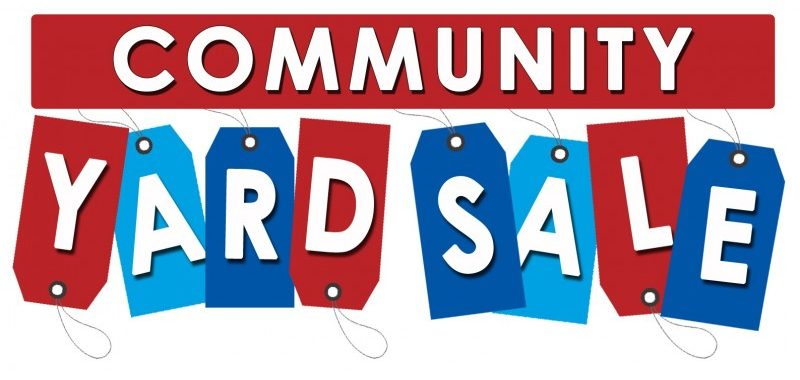 community yard sale sign